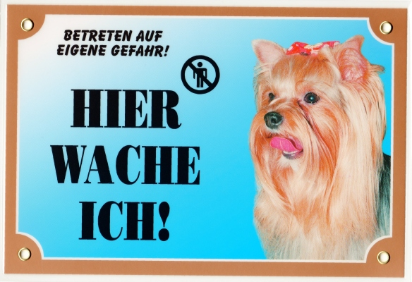 Yorkshire Terrier Kunststoff Warnschild Ideal Als Geschenk Zum